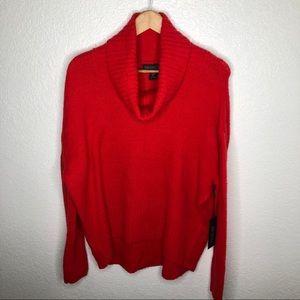 ** NWT Rachel Zoe Red Cowl Neck Sweater**